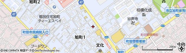 東京都町田市旭町周辺の地図