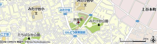 祥泉院周辺の地図