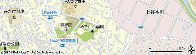 神奈川県横浜市青葉区みたけ台周辺の地図