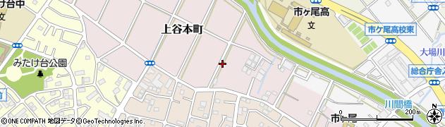 神奈川県横浜市青葉区上谷本町91周辺の地図