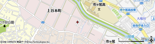 神奈川県横浜市青葉区上谷本町90周辺の地図