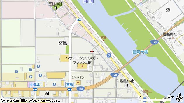 〒668-0016 兵庫県豊岡市宮島の地図