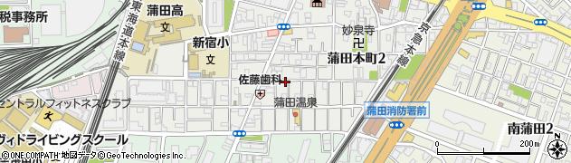 東京都大田区蒲田本町周辺の地図