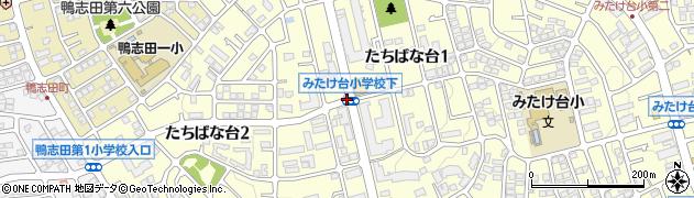 神奈川県横浜市青葉区たちばな台周辺の地図