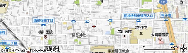 東京都大田区西糀谷周辺の地図