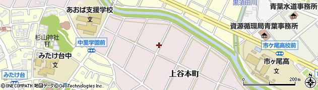 神奈川県横浜市青葉区上谷本町104周辺の地図