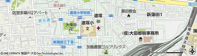 東京都大田区新蒲田周辺の地図