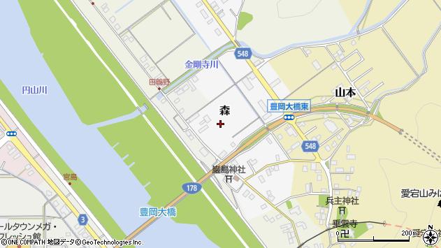 〒668-0806 兵庫県豊岡市森の地図