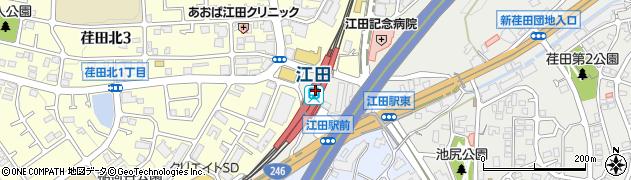 神奈川県横浜市青葉区周辺の地図