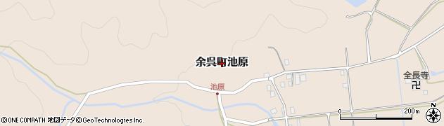 滋賀県長浜市余呉町池原周辺の地図