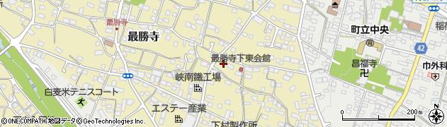 山梨県南巨摩郡富士川町最勝寺下周辺の地図