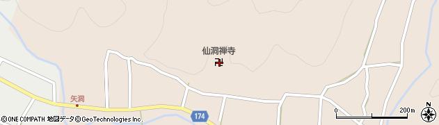 仙洞寺周辺の地図