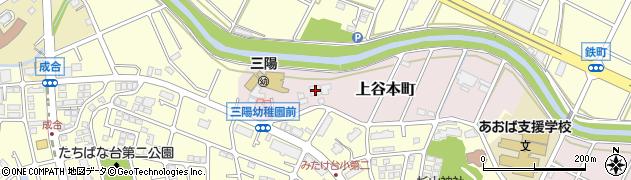 神奈川県横浜市青葉区上谷本町712周辺の地図
