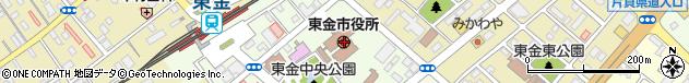 千葉県東金市周辺の地図