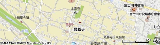 山梨県南巨摩郡富士川町最勝寺中小路周辺の地図
