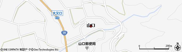 岐阜県中津川市山口周辺の地図