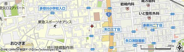 銀のさら 矢口店周辺の地図