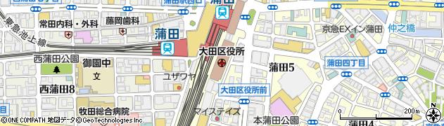 東京都大田区周辺の地図