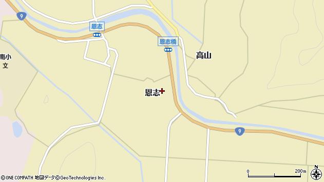 〒681-0062 鳥取県岩美郡岩美町恩志の地図