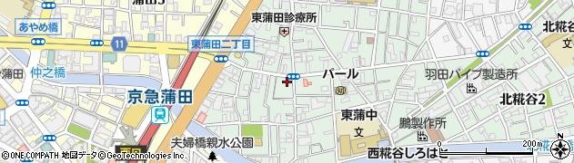 東京都大田区東蒲田周辺の地図