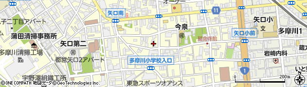 東京都大田区矢口周辺の地図