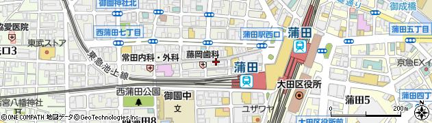 東京都大田区西蒲田周辺の地図