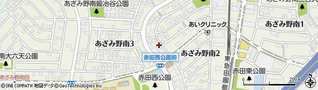 神奈川県横浜市青葉区あざみ野南周辺の地図