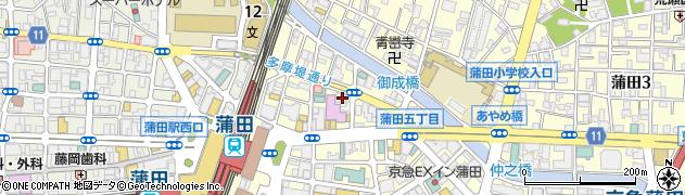 ちょうど 蒲田東口店周辺の地図
