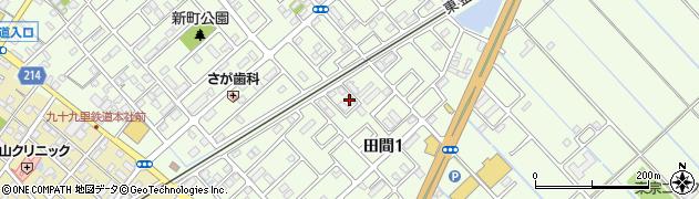 タウンコート田間F号棟周辺の地図