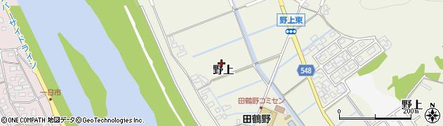 兵庫県豊岡市野上周辺の地図