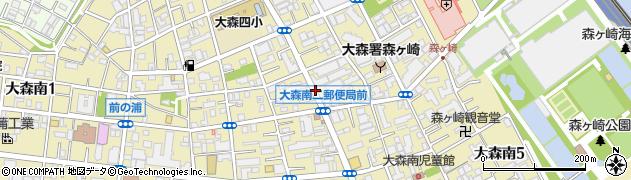 東京都大田区大森南周辺の地図