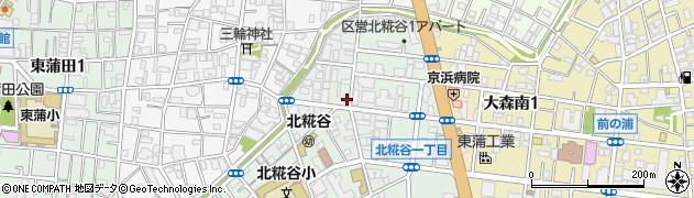 東京都大田区北糀谷周辺の地図