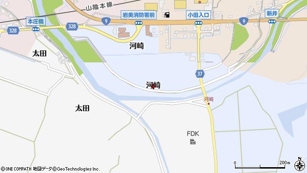 〒681-0051 鳥取県岩美郡岩美町河崎の地図