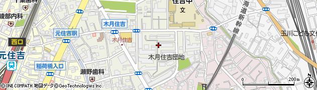 木月住吉団地周辺の地図