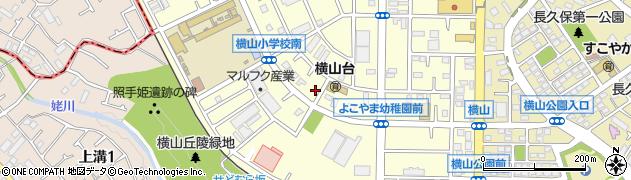 神奈川県相模原市中央区横山台2丁目周辺の地図