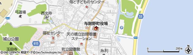京都府与謝郡与謝野町周辺の地図