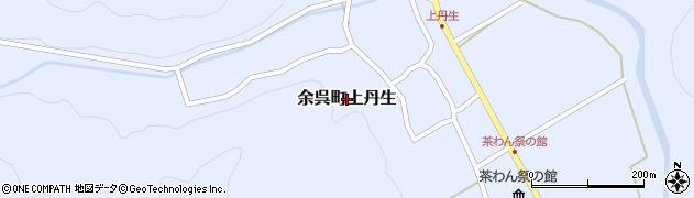 滋賀県長浜市余呉町上丹生周辺の地図