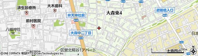 東京都大田区大森東周辺の地図