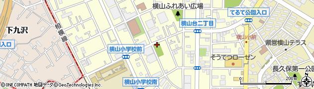 神奈川県相模原市中央区横山台周辺の地図