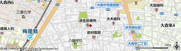 東京都大田区大森中周辺の地図