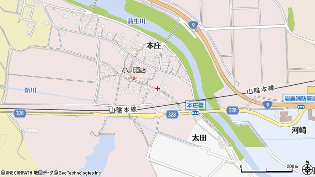 〒681-0064 鳥取県岩美郡岩美町本庄の地図