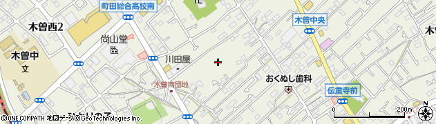 東京都町田市木曽西周辺の地図