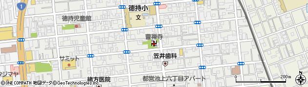 曹禅寺周辺の地図