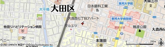 都営大森西アパート周辺の地図