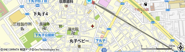 東京都大田区下丸子周辺の地図