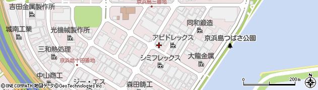 東京都大田区京浜島周辺の地図