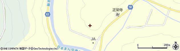 岐阜県関市中之保(若栗)周辺の地図