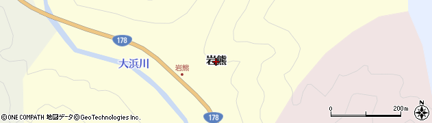 兵庫県豊岡市岩熊周辺の地図