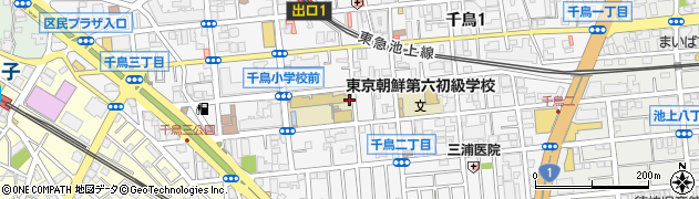 東京都大田区千鳥周辺の地図
