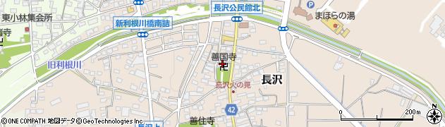 善国寺周辺の地図